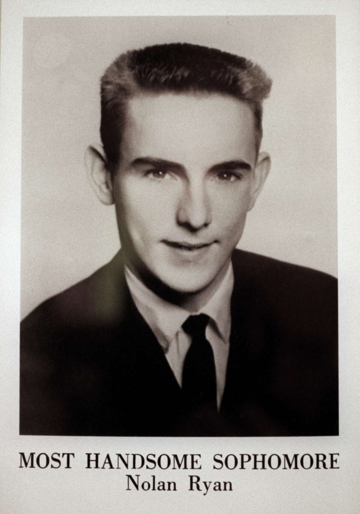 Nolan the Army man As a sophomore at Alvin High School, Ryan (shown here in yearbook photo) was voted Most Handsome. He spent a year in the U.S. Army Reserves which briefly took him away from his duties with the New York Mets after he was drafted by the team in 1965.