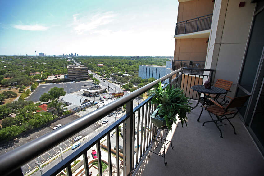 The view from a balcony at The Broadway luxury high-rise at 4242 Broadway Street is pictured July 26, 2011.