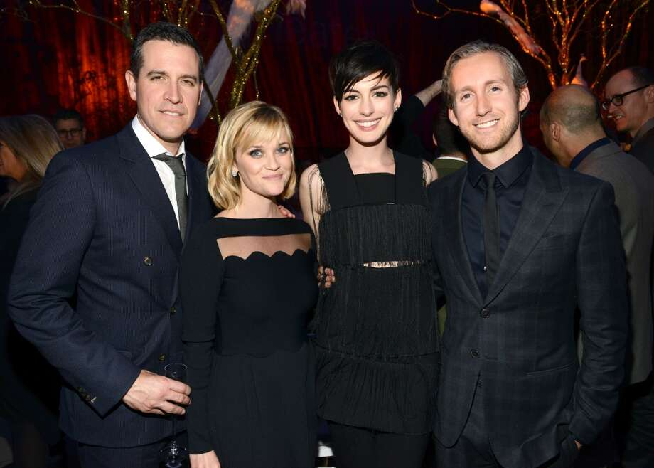 Jim Toth, Reese Witherspoon, Anne Hathaway and Adam Shulman attend The Great American Songbook event honoring Bryan Lourd at Alice Tully Hall on February 10, 2014 in New York City.  (Photo by Kevin Mazur/Getty Images for Lincoln Center) Photo: Kevin Mazur