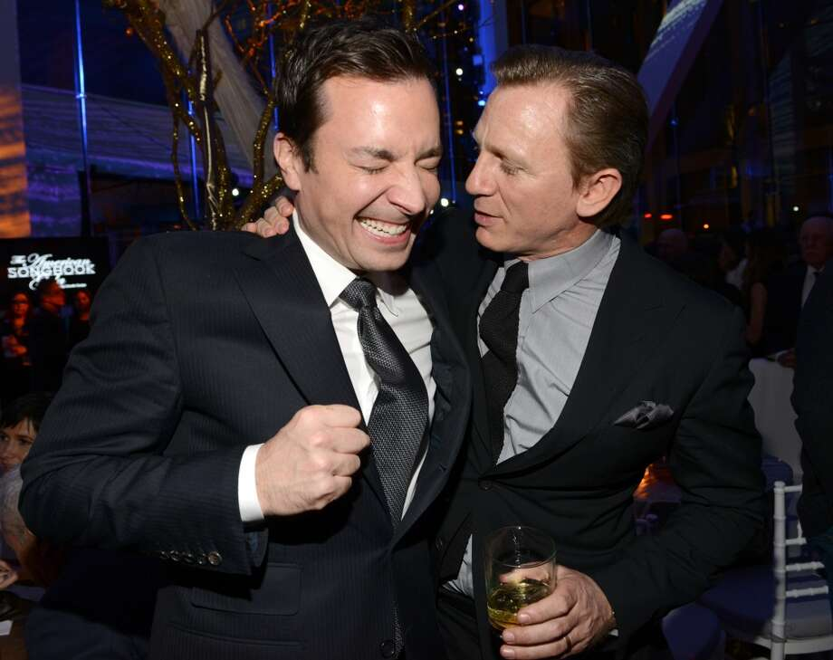 Jimmy Fallon and Daniel Craig attend The Great American Songbook event honoring Bryan Lourd at Alice Tully Hall on February 10, 2014 in New York City.  (Photo by Kevin Mazur/Getty Images for Lincoln Center) Photo: Kevin Mazur