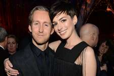 Adam Shulman and Anne Hathaway attend The Great American Songbook event honoring Bryan Lourd at Alice Tully Hall on February 10, 2014 in New York City.  (Photo by Kevin Mazur/Getty Images for Lincoln Center)