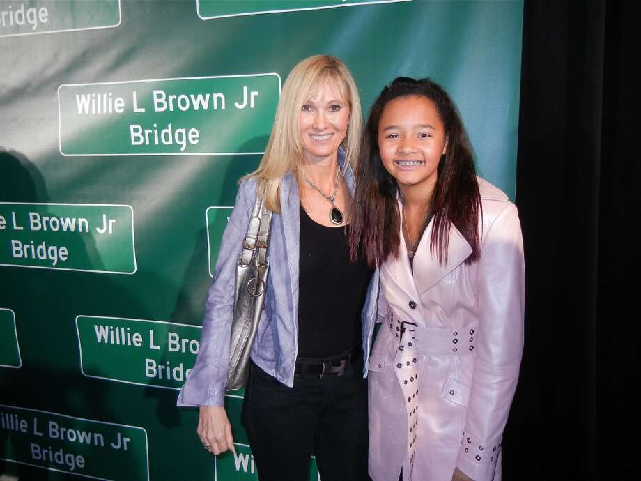 Carolyn Carpeneti with her and Willie Brown's daughter, Sydney Brown. Photo: Catherine Bigelow