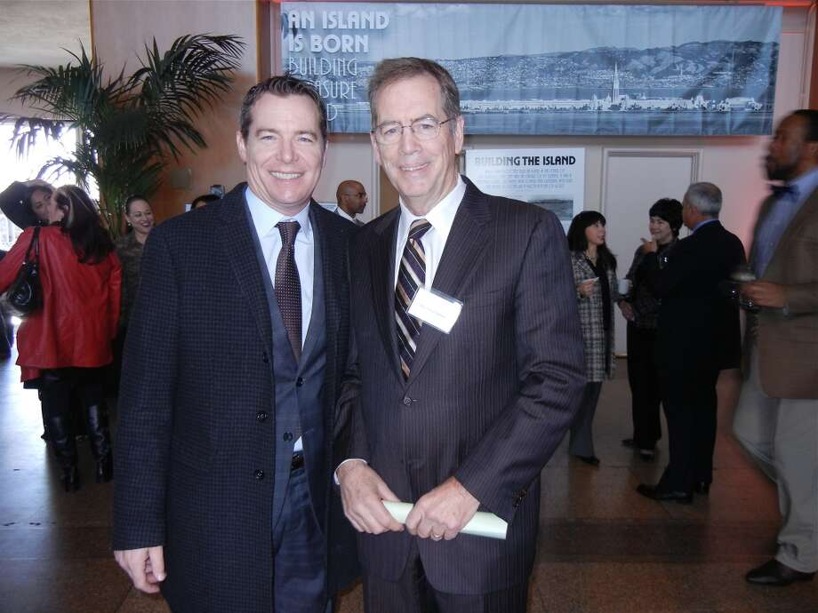 P.J. Johnston (at left) with his dad, former State Assemblyman Patrick Johnston. Photo: Catherine Bigelow