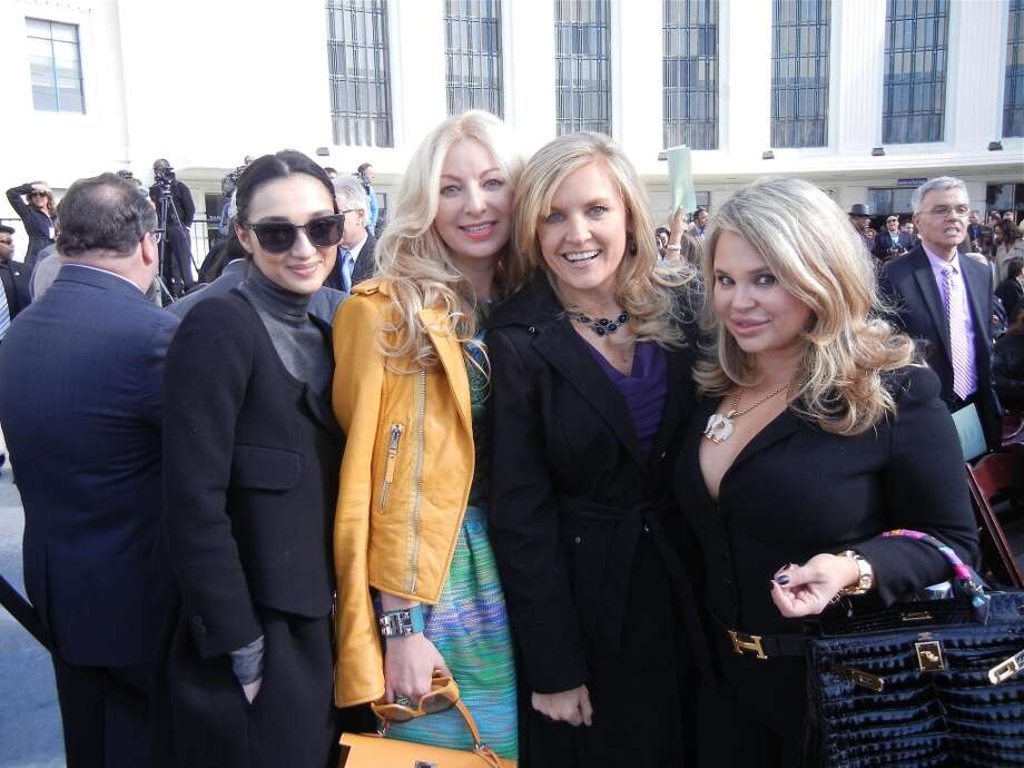 Olya Dzilikkhova (at left) with Sonya Molodetskaya, Fabiola Kramsky and Rada Katz Photo: Catherine Bigelow