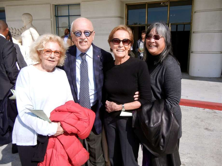 Jeannette Etheredge (at left) with Wilkes Bashford, Gina Moscone and St. Mary's Hospital Foundation Executive Director Margine Sako Photo: Catherine Bigelow