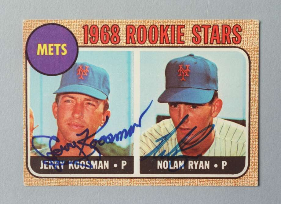 Nolan Ryan's 1968 rookie baseball card. Photo: Howard Castleberry, Houston Chronicle