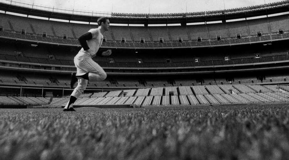 In this October 8, 1969 photo, Nolan Ryan warms up at Shea Stadium. Ryan pitched for the Mets in their first World Series against the Baltimore Orioles in 1969. Photo: John Duprey, New York Daily News