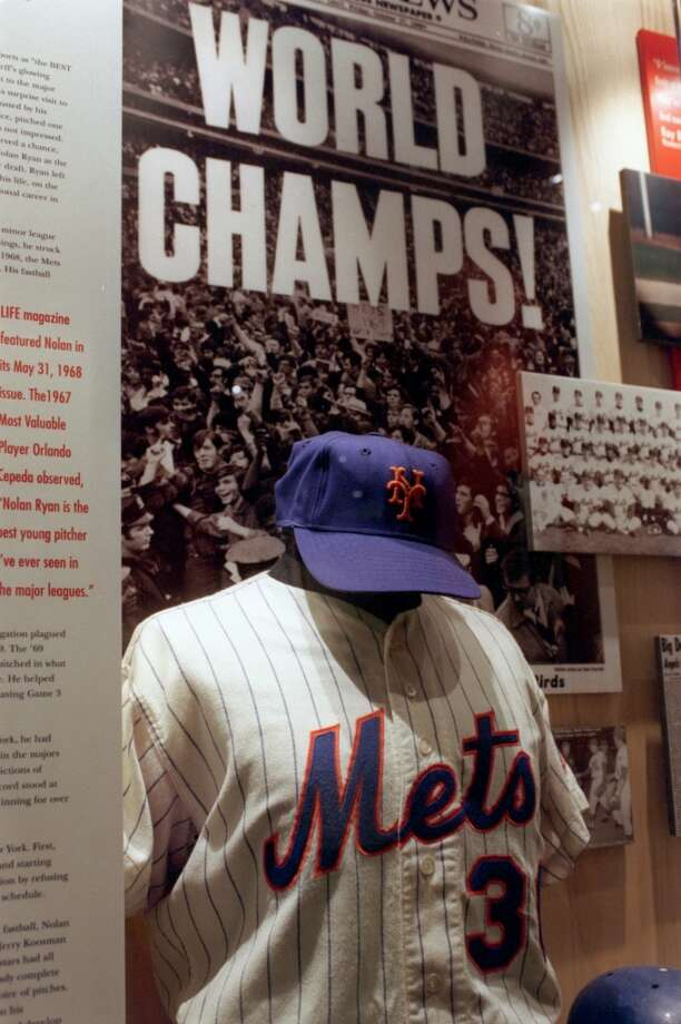 Nolan Ryan's Mets uniform when he was with the 1969 World Series champs is on display at the Nolan Ryan museum in Alvin. Photo: Kerwin Plevka, Houston Chronicle