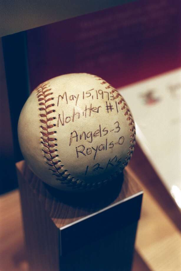 Nolan Ryan's first no-hitter ball 5/15/73, Angels 3 Royals 0. Photo: Kerwin Plevka, Houston Chronicle File