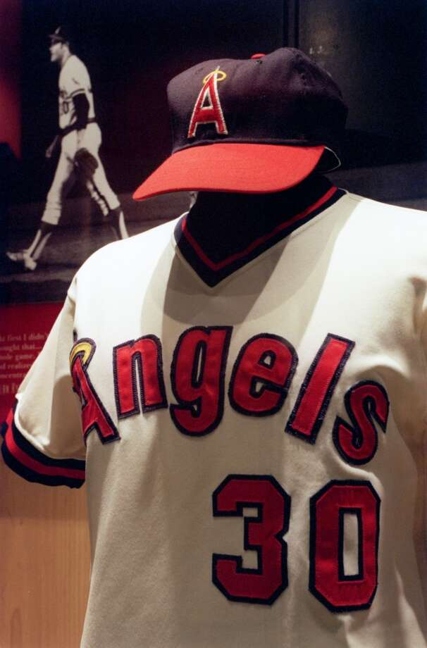 Nolan Ryan's California Angels uniform. Photo: Kerwin Plevka, Houston Chronicle File
