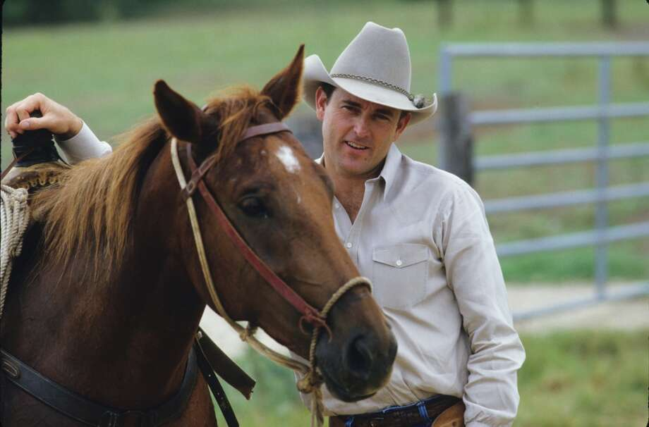 Nolan Ryan at his ranch in Alvin in 1986. Photo: Ronald C. Modra, Getty Images