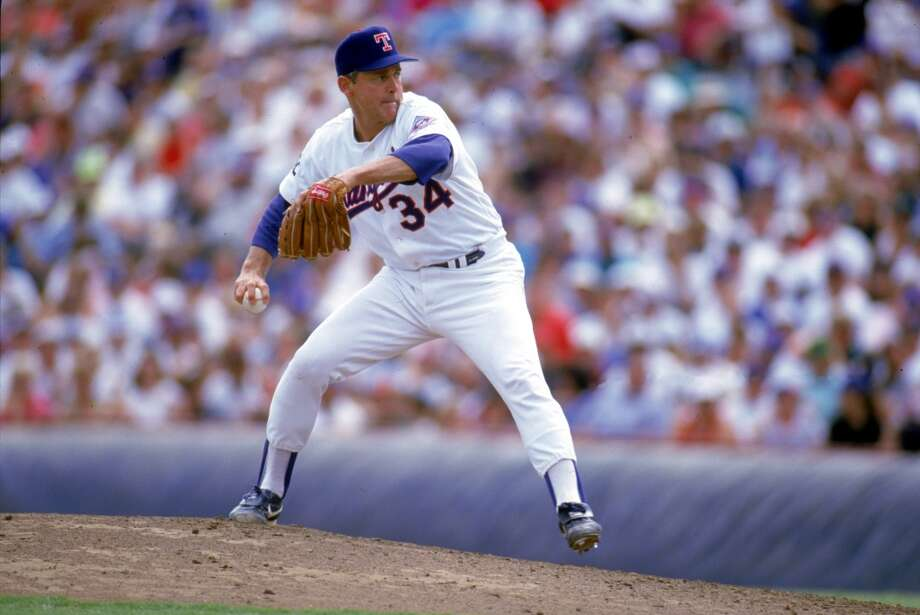 Nolan Ryan with the Rangers in 1993. Photo: Rich Pilling, Getty Images