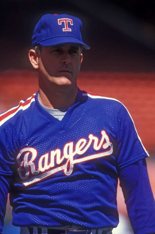 Nolan Ryan with the Rangers in 1990. Photo: Mitchell Layton, Getty Images
