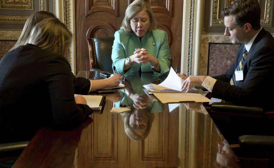 Sen. Mary Landrieu (D-La.) is poised to become the next chairwoman of the Senate Energy Committee. The position will give Landrieu jurisdiction over the oil and gas industry, a sector that fuels her home state's economy. Photo: New York Times / NYTNS
