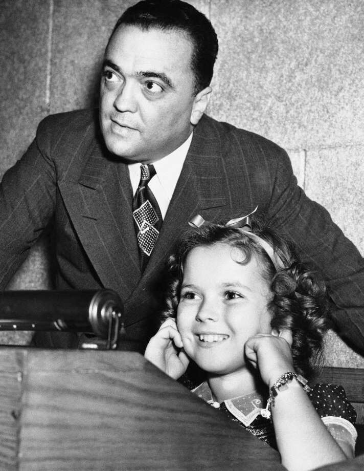Shirley Temple with J. Edgar Hoover in 1938.