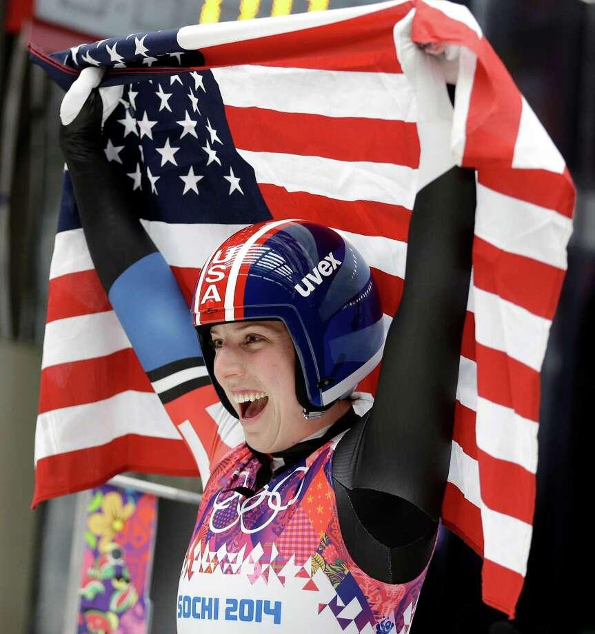 Erin Hamlin Medal: Bronze Discipline: Luge Event: Women's Singles Photo: Natacha Pisarenko / AP