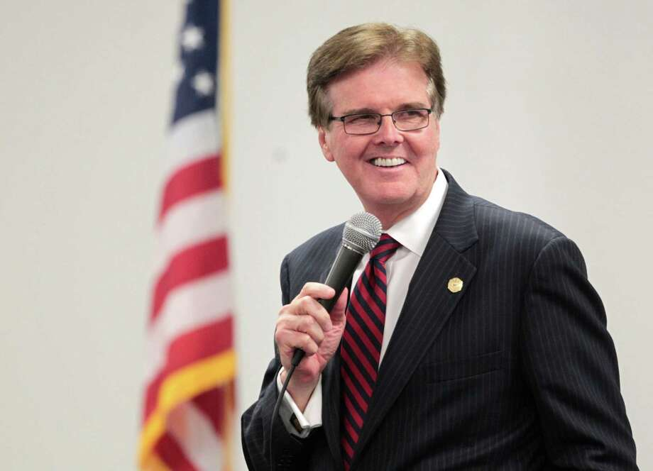 Candidate for Texas Lt. Governor, State Sen. Dan Patrick, speaks to voters during a debate Tuesday,October 1, 2013 at the Sosa Community Center in Houston, TX.  The debate was sponsored by the United Republicans of Harris County and the Texas Federation of Republican Women. (Billy Smith /Chronicle) Photo: Billy Smith II, Staff / © 2013 Houston Chronicle