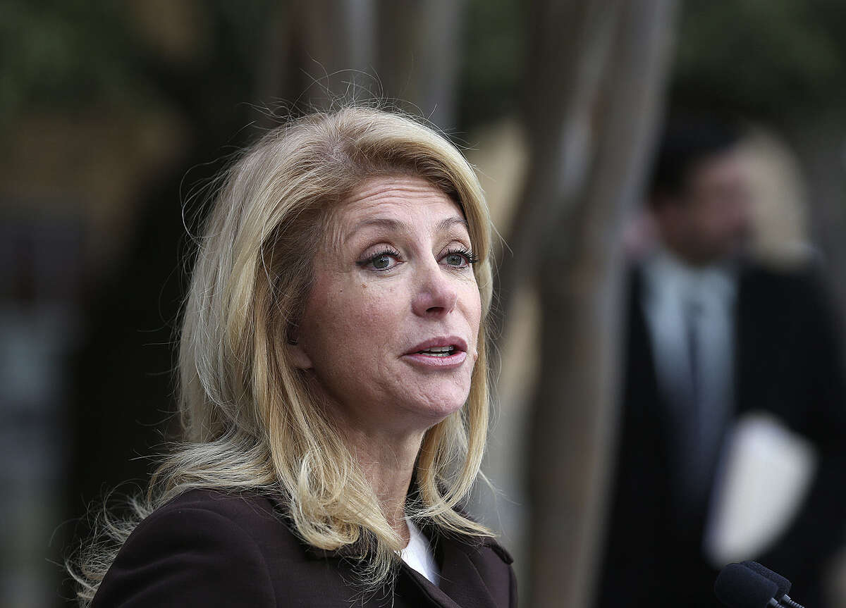 Texas Sen. Wendy Davis said Texas should see how legalized pot plays out in Washington and Colorado.