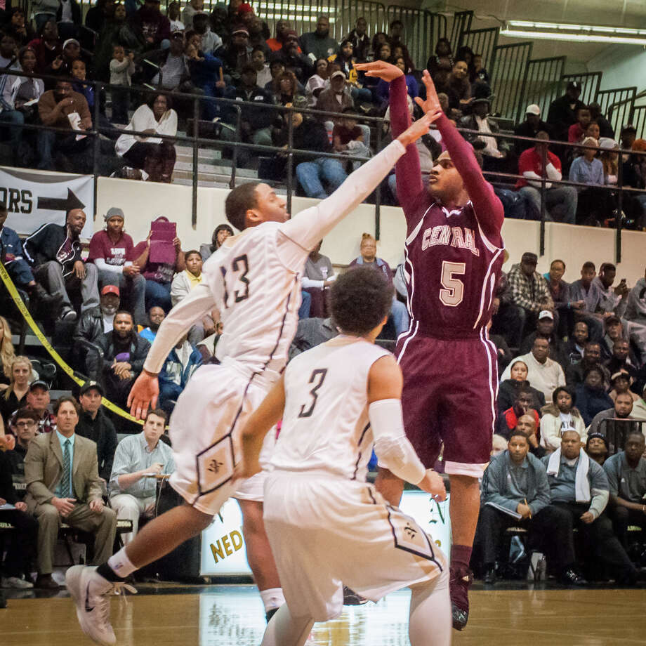Guillory of Central shoots the ball Tuesday night at the Nederland gymnasium. Photo provided by Michael Reed Photo: Michael Reed / Michael Reed