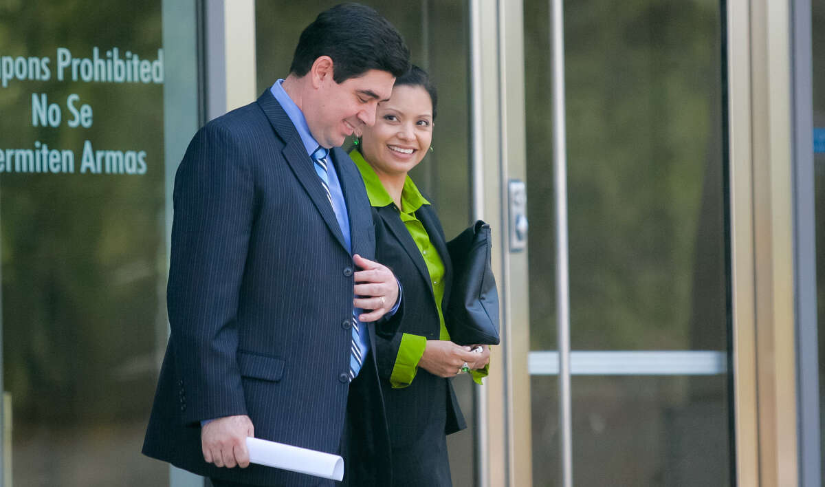 Former Cameron County District Attorney Armando Villalobos, shown with his wife, Yolanda, was convicted in May on seven counts, including racketeering, bribery and extortion.