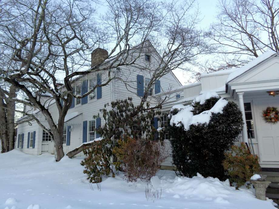 The original part of this Cross Highway house -- possibly dating to 1740 -- is one of two structures on the property at 188 Cross Highway that the owners are asking be designated a local histioric district. Photo: Meg Barone / Westport News contributed