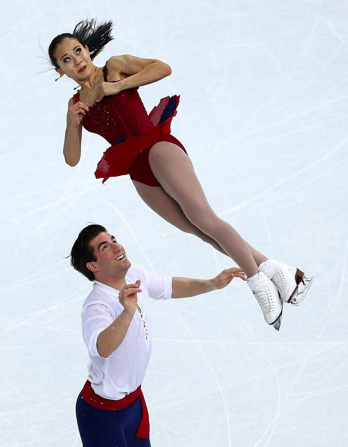Felicia Zhang and Nathan Bartholomay of the United States compete in the Figure Skating Pairs Free Skating during day five of the 2014 Sochi Olympics at Iceberg Skating Palace on February 12, 2014 in Sochi, Russia. Photo: Clive Mason, Getty Images