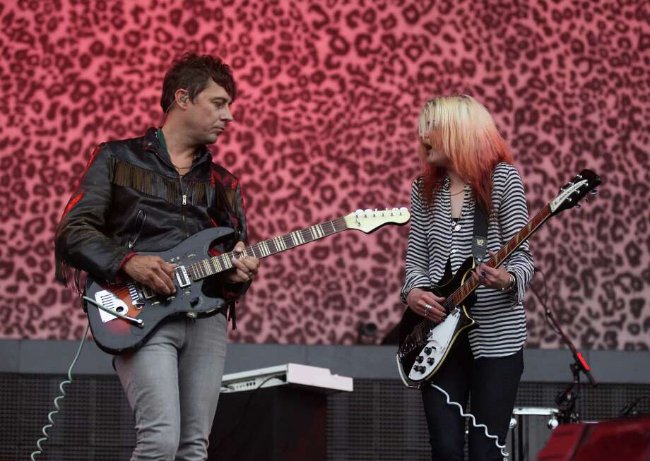 The Kills:Sunday, June 1 at 4:50 p.m.Saturn StageAlison Mosshart and Jamie Hince make up The Kills, a witchy two-piece known for Mosshart's Janis-Joplin-from-Hell theatrics and their weird, sexy, black leather ballads. Mosshart is also in The Dead Weather with Jack White, so maybe there will be a secret DW show somewhere in town? We can all dream. Photo: Trixie Textor, Getty Images / 2012 Getty Images