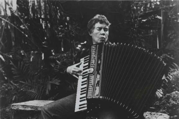 Avant-Garde Musician  Pauline Oliveros, Houston Chronicle file photo, april 14, 1986