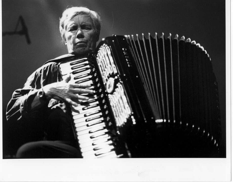 "Long meditations: Pauline Oliveros - the great Houston accordionist, composer and experimental music innovator - will be honored when more than 20 musicians perform at ""Anthology, Meditations: A Marathon Performance of Pauline Oliveros Scores."" Put an emphasis on marathon: The event is expected to run five or six hours, spotlighting just some of Oliveros' body of work. Noon Saturday; DiverseWorks, 4102 Fannin, Suite 200. FREE. diverseworks.org -Andrew Dansby Photo: Peter Kiers / DirectToArchive"