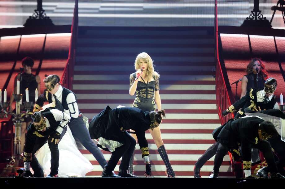 Taylor Swift on the fifth night of the European leg of her blockbuster The RED Tour with the third of five sold-out shows at London's O2 Arena, playing to a capacity crowd of more than 15500 fans, on February 10, 2014 in London, England.  (Photo by Dave J Hogan/Getty Images for TAS) Photo: Dave J Hogan, Getty Images For TAS