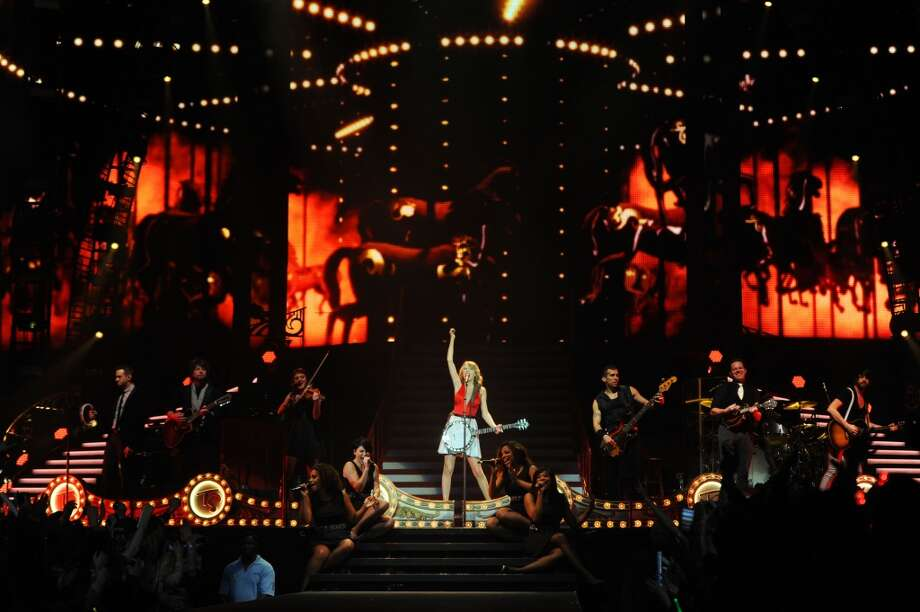 Taylor Swift concluded the European leg of her RED tour with her 5th sold-out show at London's O2 Arena, playing to a capacity crowd of more than 15500 fans on February 11, 2014 in London, England.  (Photo by Dave J Hogan/Getty Images for TAS) Photo: Dave J Hogan, Getty Images For TAS