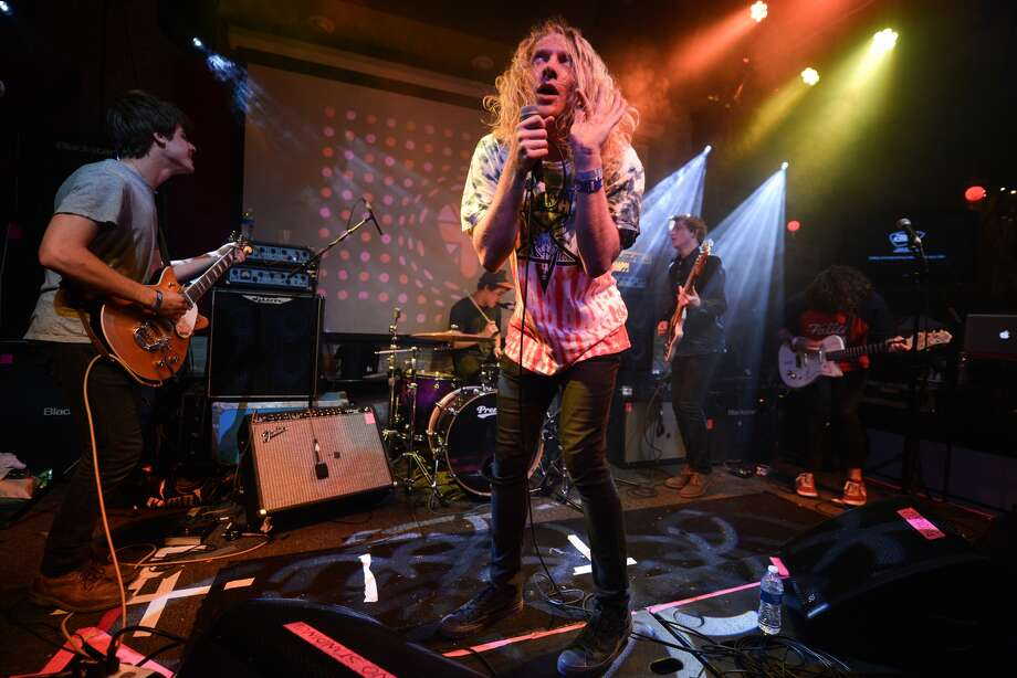 "The Orwells:Saturday, May 31 at 5:20 p.m.Venus Stage Illinois band churned out frenetic garage punk on its debut album ""Remember When."""