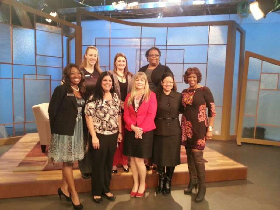 "Members of the Spring Klein Chamber of Commerce on the set of ""Great Day Houston."" Photo: Courtesy Of The Spring Klein Chamber Of Commerce"