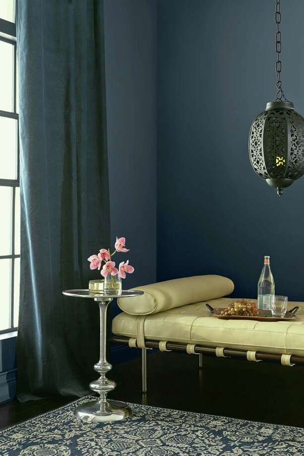 Valspar's Dutch Licorice shade, part of the brand's 2014 color palettes, is a sophisticated navy hue. / ONLINE_YES