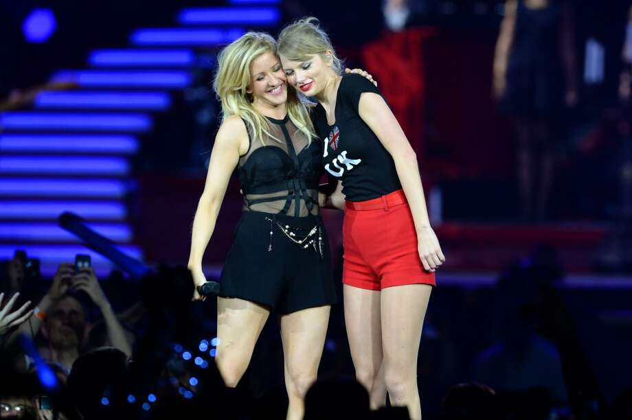 Seven-time Grammy winner Taylor Swift was joined on stage by Ellie Goulding on the final night of the European leg of her blockbuster The RED Tour at London's O2 Arena, playing to a capacity crowd of more than 15500 fans on February 11, 2014 in London, England.  (Photo by Dave J Hogan/Getty Images for TAS) Photo: Dave J Hogan, Getty Images For TAS