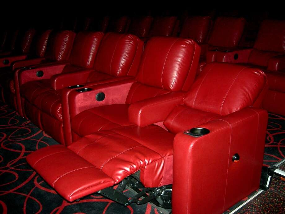 11. DINNER AND A MOVIE: Yeah, it may be routine, but consider the new kickass seats at AMC Rivercenter, and it's on! They serve alcohol, too. The raised arm rest makes for extra snuggling, but keep it PG, people, even if y'all are watching an R-rated movie. Photo: Stefanie Arias, Express-News