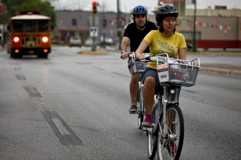 7. B-CYCLE: Strap on helmets and explore downtown while trying not to get hit by motorized vehicles and Segways. Photo: Lisa Krantz, Express-News