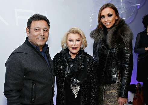 NEW YORK, NY - FEBRUARY 11:  Designer Elie Tahari and TV personalites Joan Rivers and Giuliana Rancic attend the Elie Tahari presentation during Mercedes-Benz Fashion Week Fall 2014 on February 11, 2014 in New York City.  (Photo by Cindy Ord/Getty Images) Photo: Cindy Ord, Getty Images