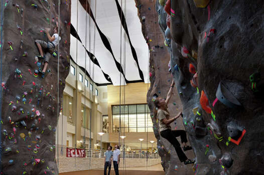 Sports and recreation facilities design such as the Texas State University Student Recreation Center has become one of Marmon Mok's specialties. Photo: Chris Cooper, Courtesy Marmon Mok / © 2009 Chris Cooper all rights reserved