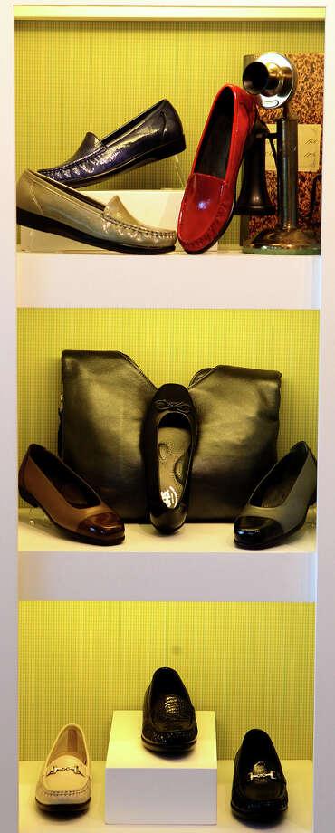 Shoes on display Wednesday January 22, 2014 at San Antonio Shoemakers at the Alamo Quarry Market. Photo: JOHN DAVENPORT, SAN ANTONIO EXPRESS-NEWS / ©San Antonio Express-News/Photo may be sold to the public