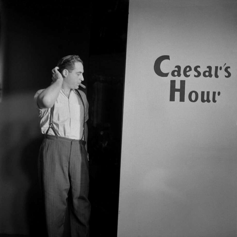 Comedian Sid Caesar on the set of his show 'Caesar's Hour' at the studios of WRCA-TV in December 1954 in New York City. Photo: Donaldson Collection, Getty Images / 1954 Donaldson Collection