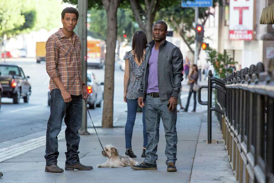 "This image released by Sony Pictures shows Michael Ealy, left, and Kevin Hart in a scene from ""About Last Night."" (AP Photo/Sony Pictures, Matt Kennedy) ORG XMIT: NYET156 Photo: Matt Kennedy / Sony Pictures"