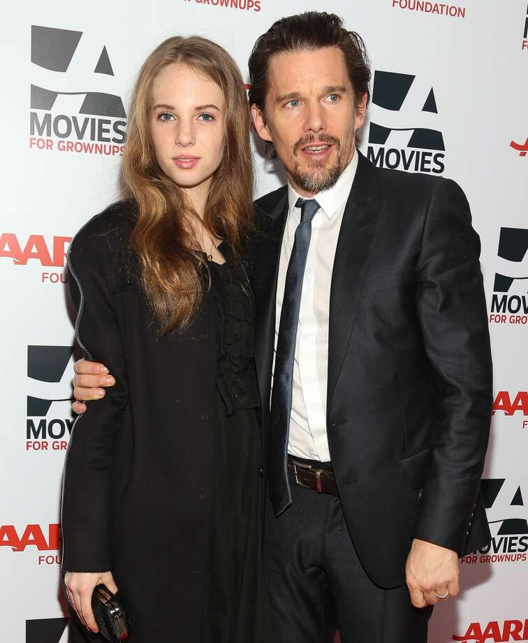 Maya Thurman-Hawke (L) and actor Ethan Hawke attend the 13th Annual AARP's Movies For Grownups Awards Gala at Regent Beverly Wilshire Hotel on February 10, 2014 in Beverly Hills, California.  (Photo by Imeh Akpanudosen/Getty Images) Photo: Imeh Akpanudosen, Getty Images