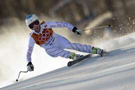 US skier Julia Mancuso skis during the Women's Alpine Skiing Downhill at the Rosa Khutor Alpine Center during the Sochi Winter Olympics on February 12, 2014. AFP PHOTO / OLIVIER MORINOLIVIER MORIN/AFP/Getty Images
