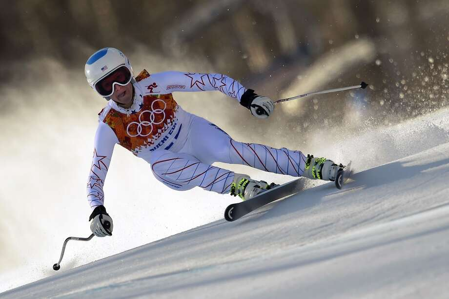 US skier Julia Mancuso skis during the Women's Alpine Skiing Downhill at the Rosa Khutor Alpine Center during the Sochi Winter Olympics on February 12, 2014. AFP PHOTO / OLIVIER MORINOLIVIER MORIN/AFP/Getty Images Photo: Olivier Morin, AFP/Getty Images
