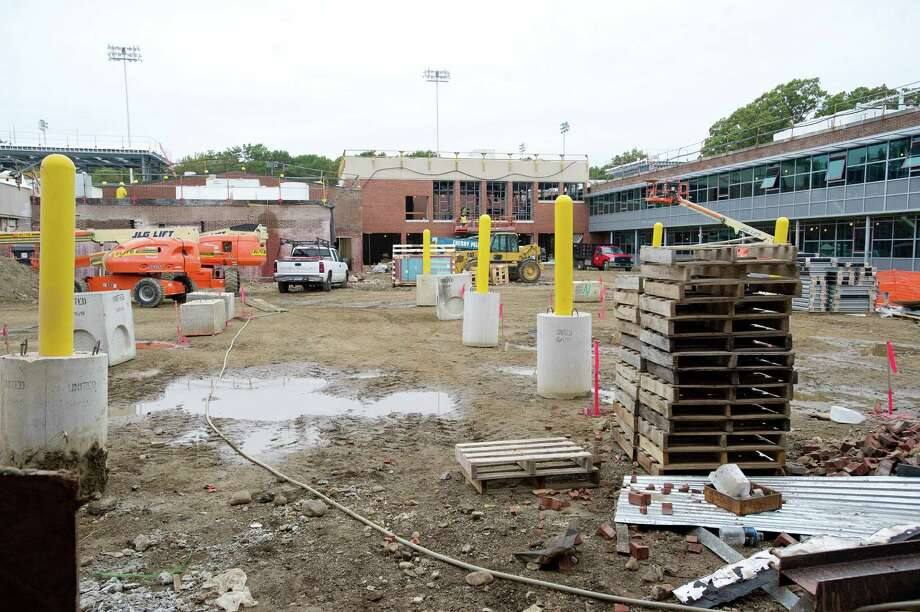Construction continues inside Wright Technical High School in Stamford, Conn., on Thursday, October 10, 2013. Photo: Lindsay Perry / Stamford Advocate