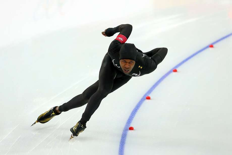 Shani Davis wanted to be the first male speedskater to capture the same event at three consecutive Olympics. Photo: Quinn Rooney, Getty Images