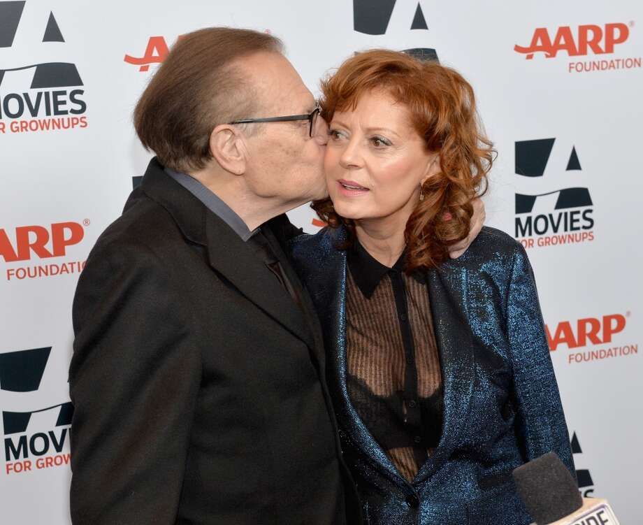 Larry King and actress Susan Sarandon attend 13th Annual AARP's Movies for Grownups Awards Gala at Regent Beverly Wilshire Hotel on February 10, 2014 in Beverly Hills, California.  (Photo by Michael Buckner/Getty Images) Photo: Michael Buckner, Getty Images