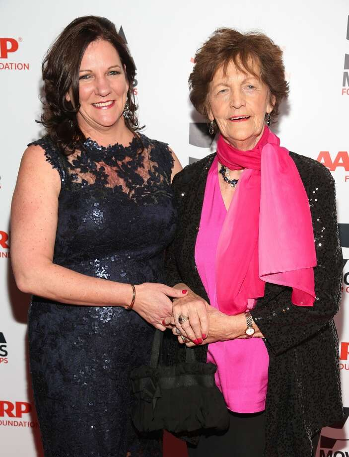 Philomena Lee (R) and her daughter, Jane Libberton, attend the 13th Annual AARP's Movies For Grownups Awards Gala at Regent Beverly Wilshire Hotel on February 10, 2014 in Beverly Hills, California.  (Photo by Imeh Akpanudosen/Getty Images) Photo: Imeh Akpanudosen, Getty Images