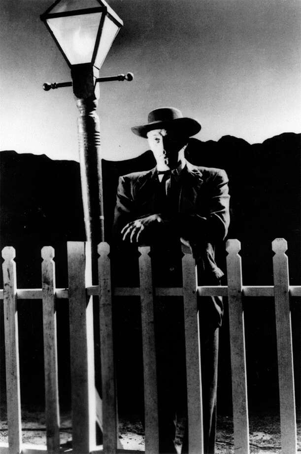 Robert Mitchum in THE NIGHT OF THE HUNTER (1955). It was ignored by the Academy when it came out, but is recognized as a masterpiece today. (MARTY won Best Picture that year.) Photo: United Artists 1955, SFC / HANDOUT